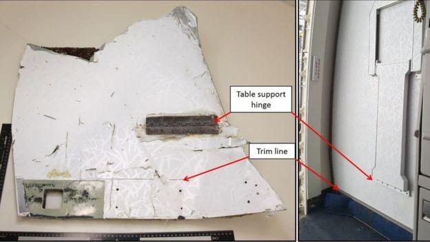 Một mảnh vỡ được phát hiện gần đây nhất của máy bay MH370 ở Mauritius (Ảnh: ATSB)