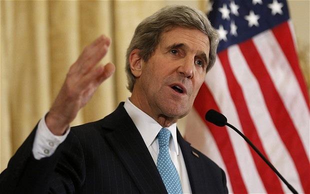 Ngoại trưởng Mỹ John Kerry (Ảnh: Telegraph)