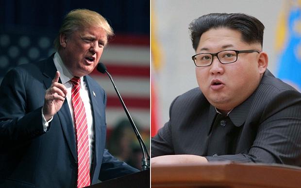 Tỷ phú Donald Trump (trái) và ông Kim Jong Un (Ảnh: AP)
