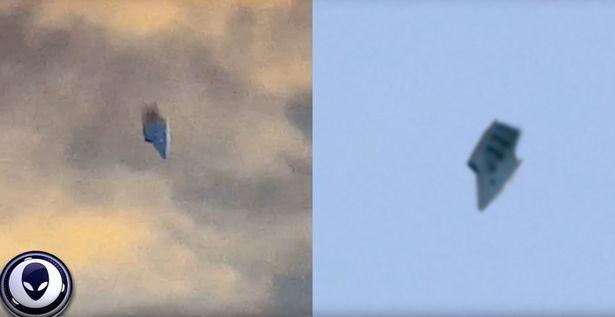 Hình ảnh so sánh sự tương đồng giữa vật thể bay mới được phát hiện (trái) và một vật thể bay được phát hiện trước đó (Ảnh: Secureteam 10)
