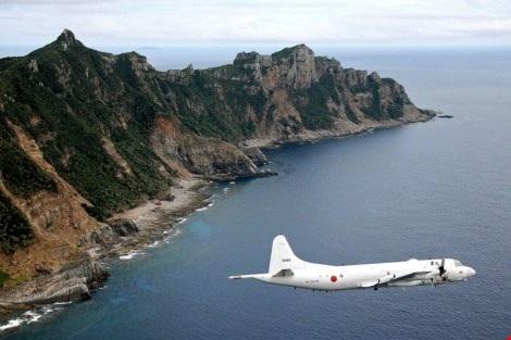 Máy bay giám sát P-3C của Nhật Bản tại quần đảo Senkaku (Ảnh: Kyodo)