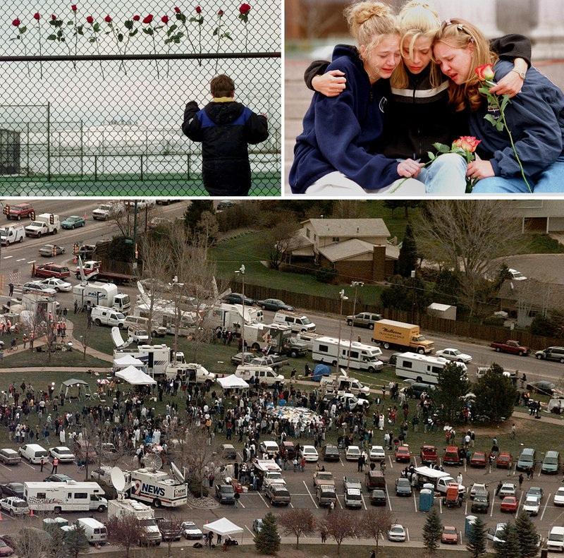 Khuôn viên trường trung học Columbine sau vụ xả súng kinh hoàng (Ảnh: AP)