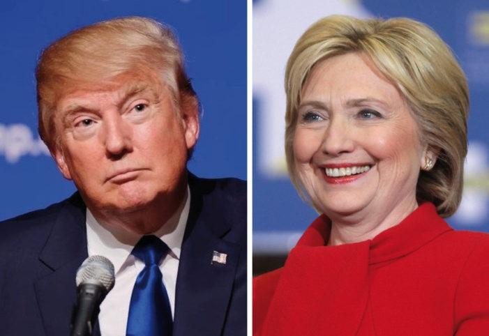Ông Donald Trump (trái) và bà Hillary Clinton (Ảnh: Politicususa)