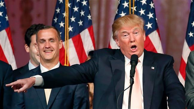 Ông Corey Lewandowski (trái) và tỷ phú Donald Trump (Ảnh: AFP)