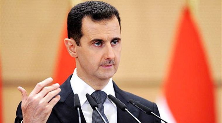 Tổng thống Syria Bashar al-Assad (Ảnh: Indiaexpress)