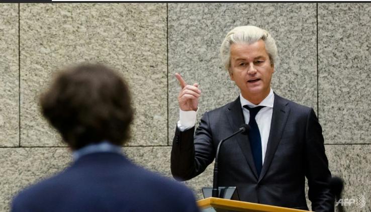 Nghị sĩ Geert Wilders là người đi đầu trong chiến dịch đề nghị trưng cầu dân ý để Hà Lan rời EU (Ảnh: AFP)