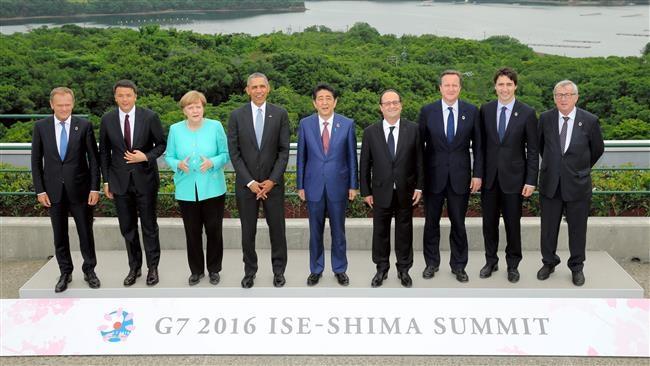 Lãnh đạo các nước tham gia hội nghị thượng đỉnh G7 tại Nhật Bản tháng 5/2016 (Ảnh: AFP)