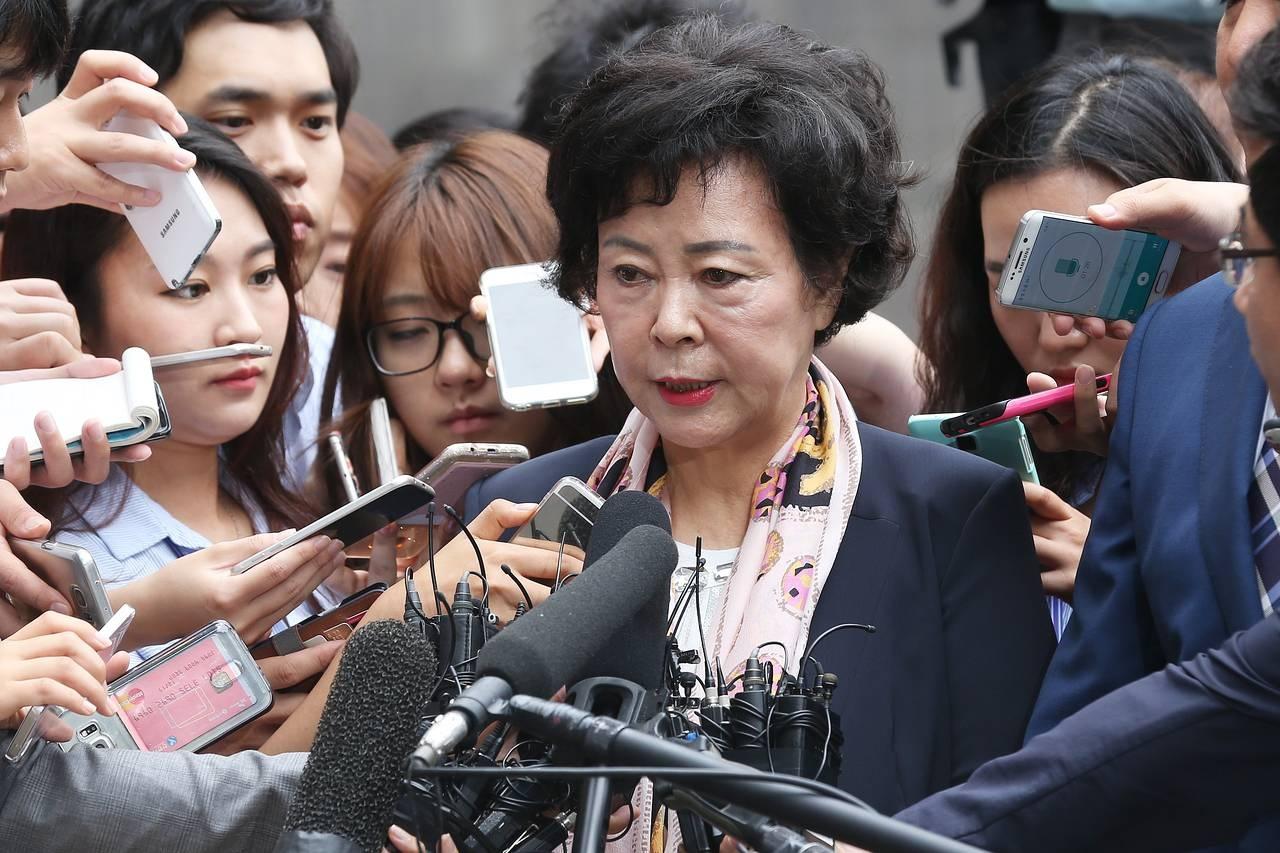 Bà Shin Young-ja là con gái nhà sáng lập Tập đoàn Lotte Shin Kyuk-ho. (Ảnh: Zuma Press)