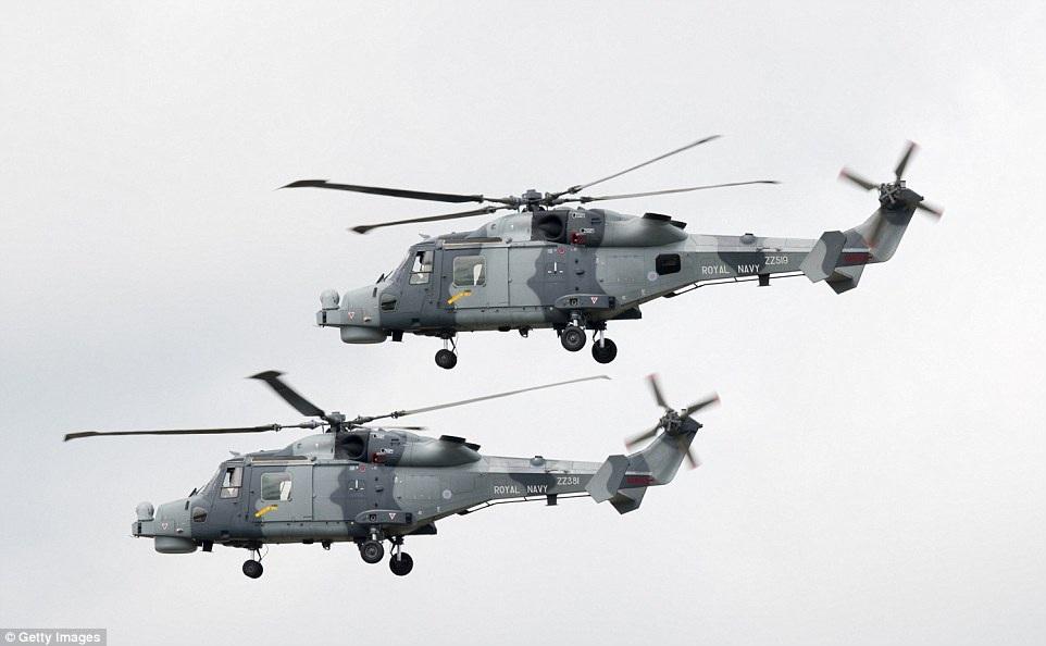 Trực thăng Lynx của Không quân Anh cũng tham gia vào cuộc triển lãm năm nay.