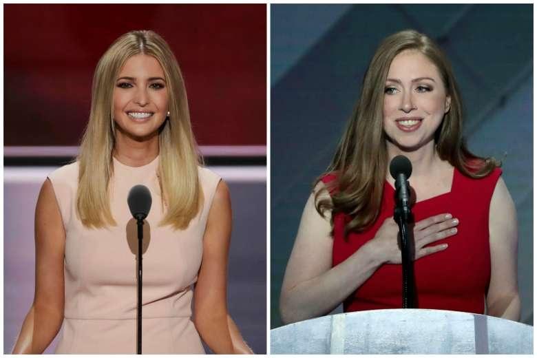 Ivanka Trump (trái) và Chelsea Clinton (Ảnh: AFP)