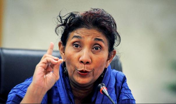 Bộ trưởng phụ trách vấn đề ngư nghiệp và hàng hải Indonesia Susi Pudjiastuti. (Ảnh: Getty)