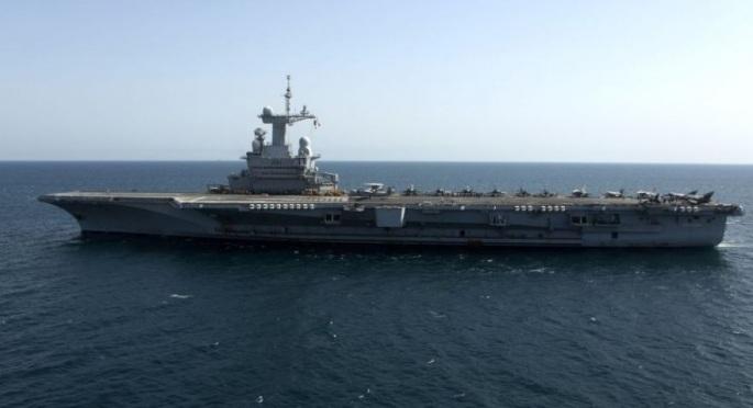 Tàu sân bay Charles de Gaulle của Hải quân Pháp trong một hoạt động tuần tra (Ảnh: Hải quân Pháp)