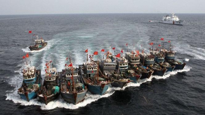 Các tàu đánh bắt cá của Trung Quốc (Ảnh: AFP)