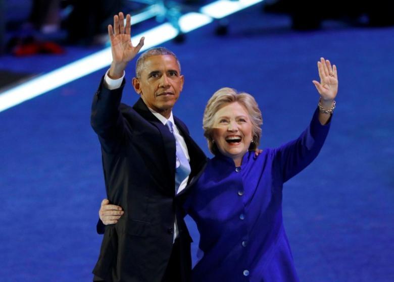 Tổng thống Mỹ Barack Obama và bà Hillary Clinton (Ảnh: Reuters)