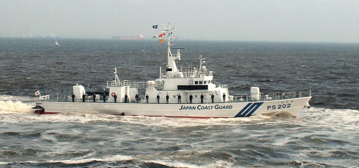 Tàu tuần tra của Lực lượng tuần duyên Nhật Bản (Ảnh: AFP)