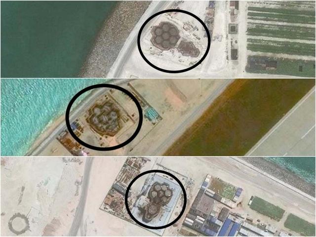 Cấu trúc lục giác bí ẩn Trung Quốc xây trái phép trên quần đảo Trường Sa thuộc chủ quyền của Việt Nam. (Ảnh: CSIS)