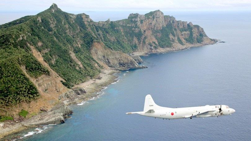 Máy bay Nhật Bản tuần tra quanh khu vực quần đảo Senkaku/Điếu Ngư ở biển Hoa Đông (Ảnh: Mole)