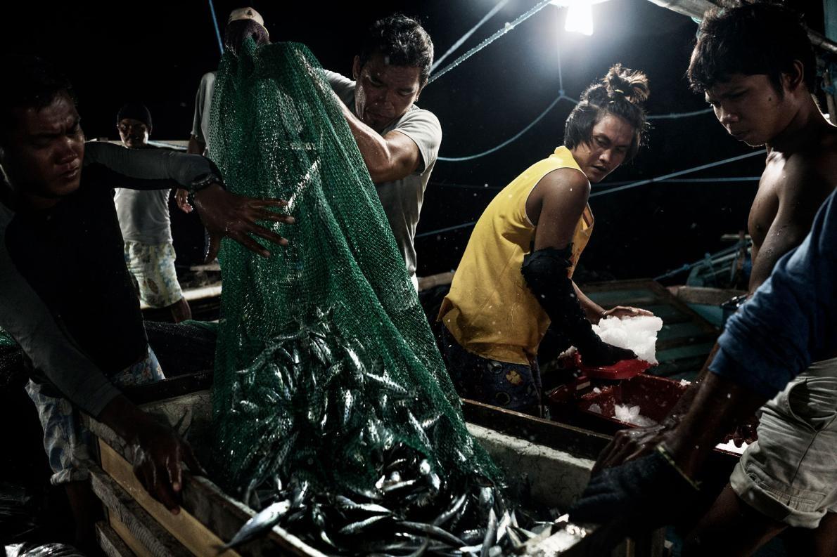 Nguồn cá ở Biển Đông đang cạn dần do khai thác quá mức (Ảnh: National Geographic)