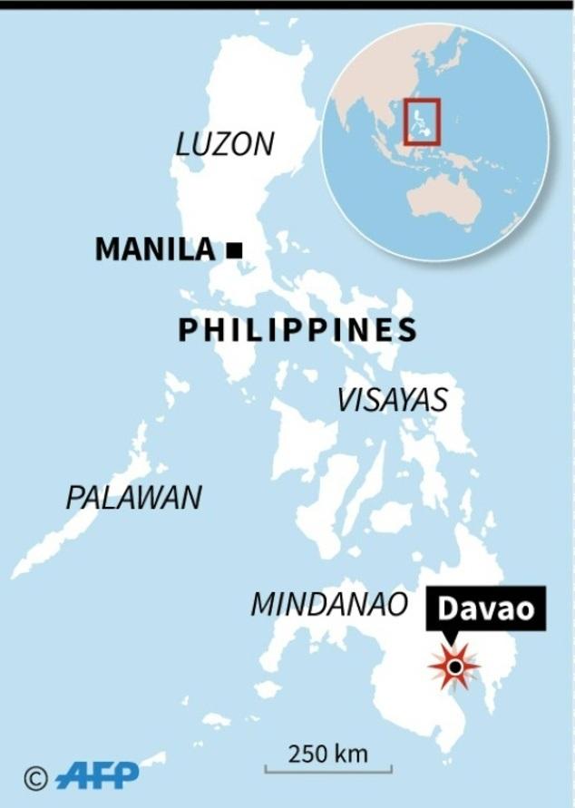 Vụ nổ xảy ra khoảng 23h ngày 2/9 theo giờ địa phương tại khu vực mát xa trong khu chợ đêm trên đường Roxas ở thành phố Davao trên đảo Mindanao, phía nam Philippines.
