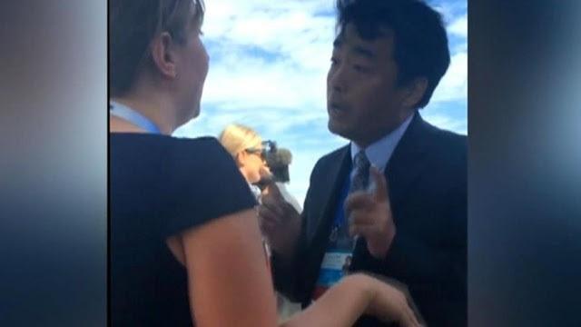 Quan chức Trung Quốc to tiếng với trợ lý báo chí Nhà Trắng trong phái đoàn tháp tùng Tổng thống Obama tới Hàng Châu (Ảnh: ABC)