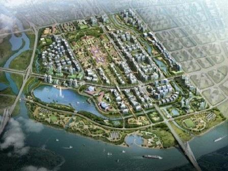 Phối cảnh tổng thể khu trung tâm hành chính thành phố của Hải Phòng