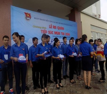 Quảng Bình: Hơn 430 tình nguyện viên tham gia tiếp sức mùa thi - 2