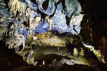 Hang Tiên 2 là một trong 57 hang động mới được Đoàn thám hiểm hang động Hoàng gia Anh phát hiện. Ảnh Oxalis cung cấp
