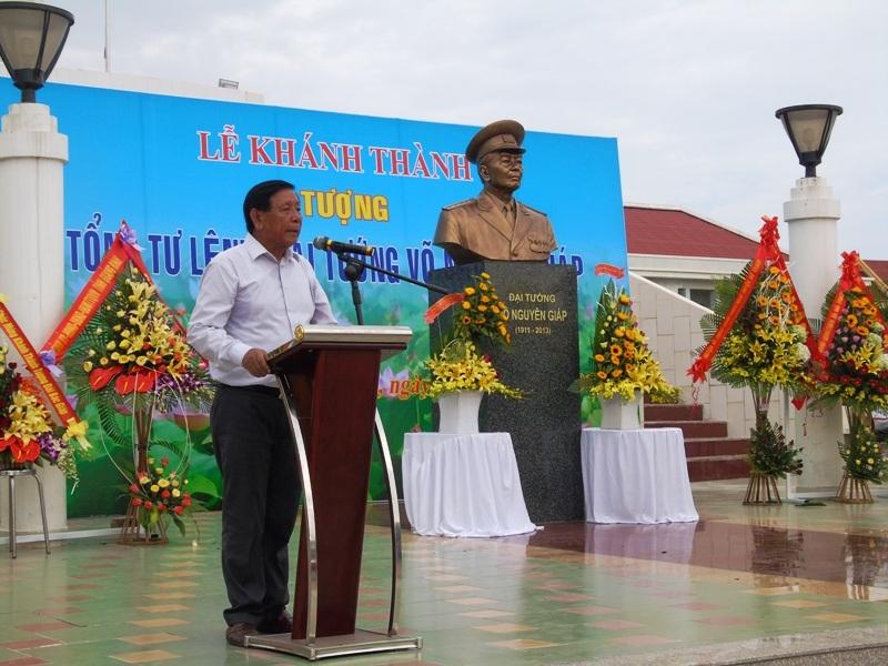 Ông Phan Hải phát biểu tại buổi Lễ khánh thánh tượng cố Đại tướng Võ Nguyên Giáp