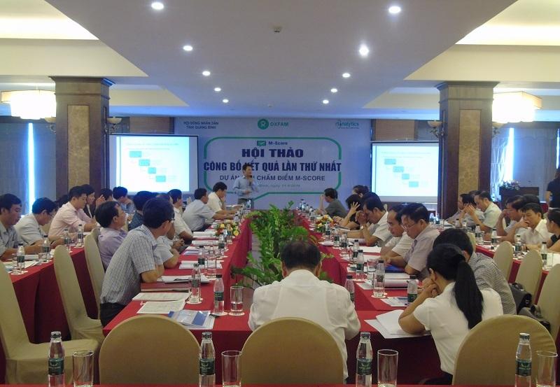 Hội thảo công bố kết quả lần thứ nhất dự án Dân chấm điểm M-Score tại Quảng Bình