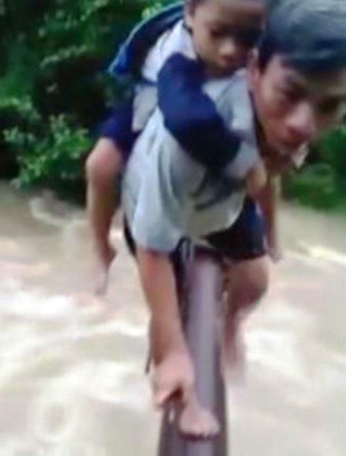 Hình ảnh trên được xác định là ở thôn Bắc Sơn, xã Sơn Hoá, huyện Tuyên Hoá, tỉnh Quảng Bình (Ảnh cắt từ clip)
