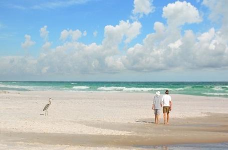 Doi đất ở bang Florida, Mỹ: Nếu vẫn chưa sẵn sàng tạm biệt mùa hè, hãy tới doi đất của bang Florida để tận hưởng những ngày hè muộn bên bờ biển. Đây được xem là một trong những bãi biển đẹp nhất nước Mỹ. Ở thời điểm này, bãi biển không còn đông đúc nhưng nước biển vẫn ấm, những người chưa kịp có một kỳ nghỉ hè hoặc muốn nối dài những ngày hè, có thể tận hưởng vẻ đẹp của bãi cát chạy dài 160km này.