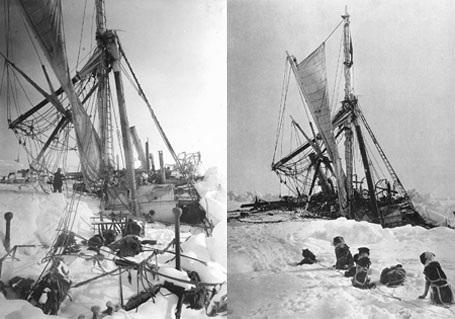 """Cuối cùng băng tuyết """"nuốt chửng"""" con tàu."""