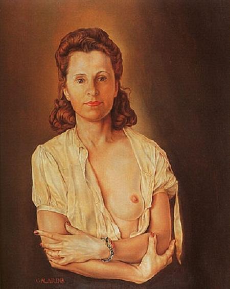 Gala Diakonova - nàng thơ của danh họa Tây Ban Nha Salvador Dali: Gala là vợ của nhà thơ Pháp Paul Eluard, là tình nhân của họa sĩ Đức Max Ernst, vẻ đẹp Nga này còn chiếm được trái tim của danh họa Tây Ban Nha Salvador Dali dù hơn Dali tới 10 tuổi. Trong các bức tranh của Dali, Gala luôn được khắc họa như một nữ thần tình ái.