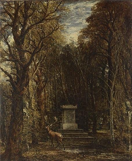 """Bức """"Đài tưởng niệm danh họa Joshua Reynolds"""" (1836) - danh họa người Anh John Constable."""