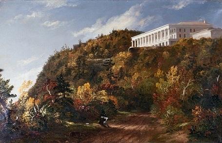 """Bức """"Ngôi nhà trên núi Catskill"""" (1847) - danh họa người Mỹ Thomas Cole."""