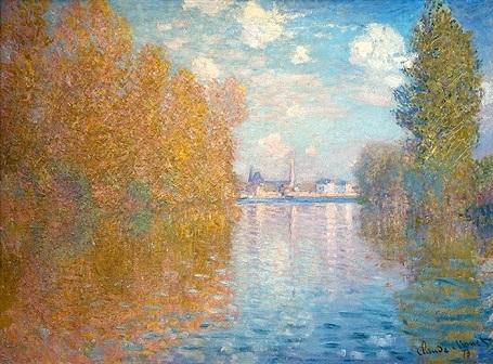 """Bức """"Mùa thu ở xã Argenteuil"""" (1873) - danh họa người Pháp Claude Monet."""