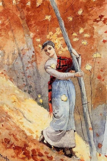 """Bức """"Rừng thu"""" (1877) - danh họa người Mỹ Winslow Homer."""