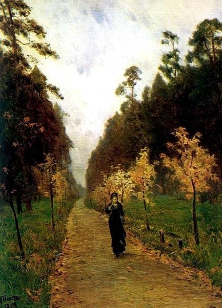 """Bức """"Cảnh thu. Sokolniki"""" (1879) - danh họa người Nga Isaac Levitan. Tác phẩm khắc họa một phụ nữ đang băng qua một công viên. Điều thú vị trong bức tranh này, đó là hình ảnh người phụ nữ không phải được vẽ bởi Levitan mà bởi một người bạn của ông - họa sĩ Nikolai Chekhov, anh trai của nhà văn Nga Anton Chekhov."""