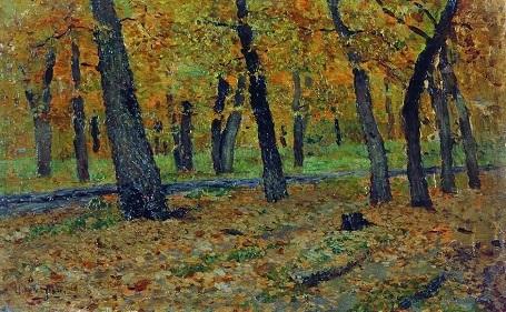 """Bức """"Rừng sồi. Mùa thu"""" (1880) - danh họa người Nga Isaac Levitan."""