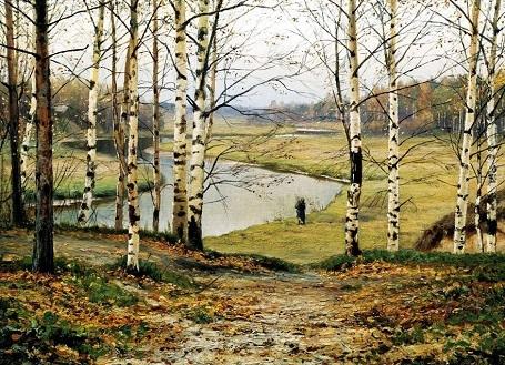 """Bức """"Tháng 10"""" (1883) - danh họa người Nga Yefim Volkov."""