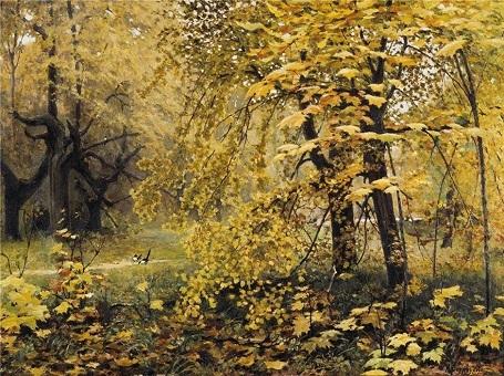 """Bức """"Mùa thu vàng"""" (1886) - danh họa người Nga Ilya Ostroukhov."""