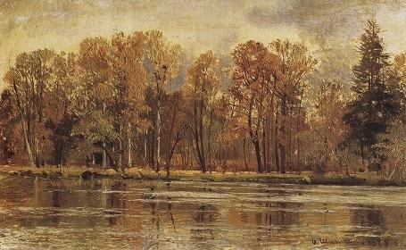 """Bức """"Mùa thu vàng"""" (1888) - danh họa người Nga Ivan Shishkin."""