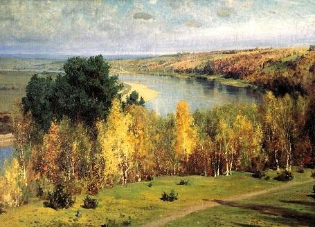 """Bức """"Mùa thu vàng"""" (1893) - danh họa người Nga Vasily Polenov."""