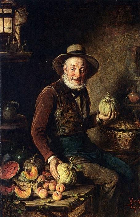"""Bức """"Người bán bí ngô"""" (1904) - danh họa người Áo Hermann Kern."""