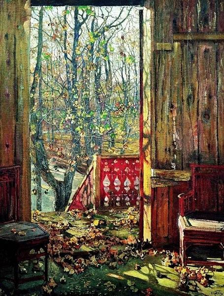 """Bức """"Lá rụng"""" (1913) - danh họa người Nga Isaac Brodsky."""