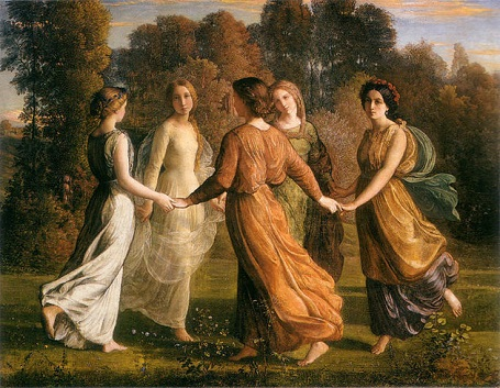 """Bức """"Bài thơ của tâm hồn - Tia nắng của mặt trời"""" - danh họa người Pháp Louis Janmot."""