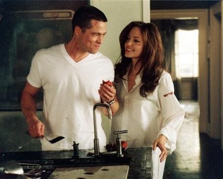 Cảnh trong phim Ông bà Smith (2005)
