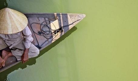 Ông cụ chèo đò (ảnh chụp ở Hội An) - Bernard Russo