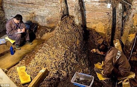 Các nhà khảo cổ tin rằng ngôi mộ này thuộc về một người cháu trai của Hán Vũ Đế.
