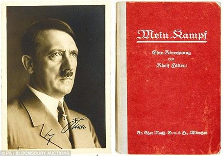 """Cuốn """"Mein Kampf"""" của Hitler đã bị cấm lưu hành ở Đức kể từ khi chủ nghĩa Phát-xít sụp đổ. Tuy vậy, cuốn sách sẽ trở lại các hiệu sách Đức vào đầu năm tới."""